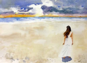 woman_in_white_dress_at_beach_by-kay-smith