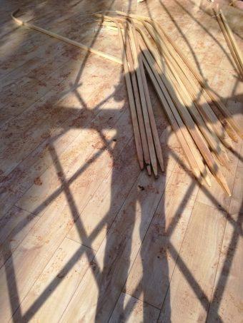 yurt roof poles