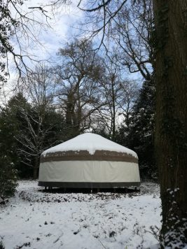 Yurt in the snow, March 2018