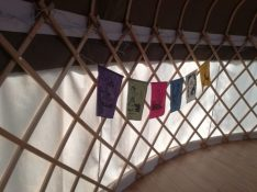 Flags honouring the stages of womanhood