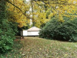 yurt in autumn colours