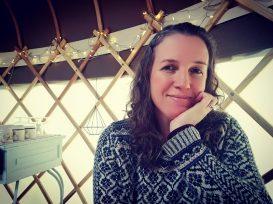 vlogging in the yurt