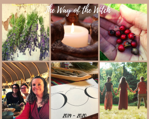 way of the witch lavender candle hawthorn berries women moon nature