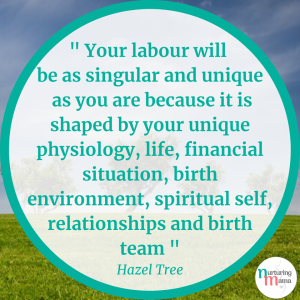 positive birth midwifery quote Hazel Tree